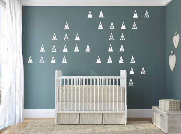 triangles décoratifs autocollants muraux
